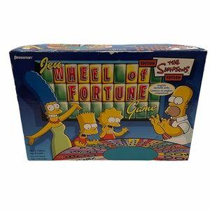 Simpsons Wheel of Fortune Board Game 2005 Pressman